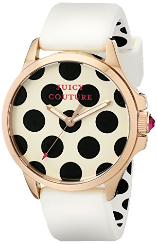 Juicy Couture Women'S 1901223 Jetsetter Analog Display Quartz White Watch