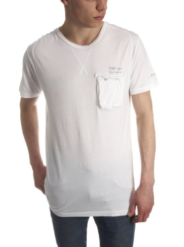 Firetrap Pitcher Plain Mens T-Shirt White X-Large