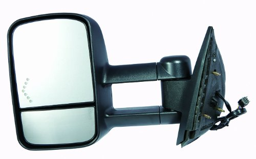 Depo 335-5409L3EFH1 Chevy/Silverado/Sierra Driver Side Textured Heated Power Towing Mirror with Turn Signal (2014 Chevy Towing Mirrors compare prices)