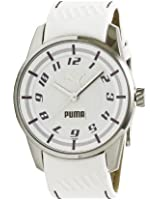 Puma Time Ladies Watch Race Cat Ii PU102022003 White Dial Analogue Display and Gold Leather