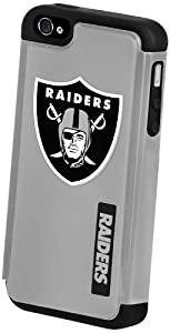 Forever Collectibles Oakland Raiders Rugged Dual Hybrid Apple iPhone 4 & 4S Case by Forever Collectibles