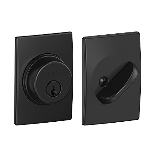 Schlage B60N CEN 622 Century Deadbolt, Keyed 1 Side, Matte Black