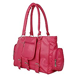 Glory Fashion Women's Stylish Handbag Pink BB-001-B00156