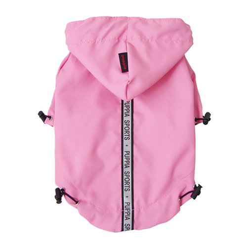 Puppia Authentic Base Jumper Raincoat, Medium, Pink