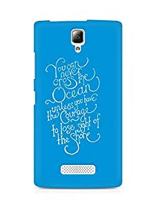 AMEZ you can never cross the Ocean Back Cover For Lenovo A2010