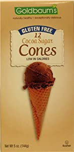 Goldbaums Sugar Cocoa Cones, 12 Cones, Gluten Free, 5-Ounce (Pack of 4)