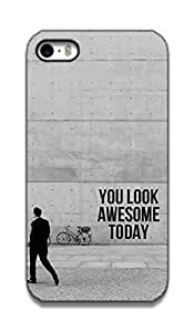 The Racoon Lean you look awesome hard plastic printed back case / cover for Apple Iphone 4/4s