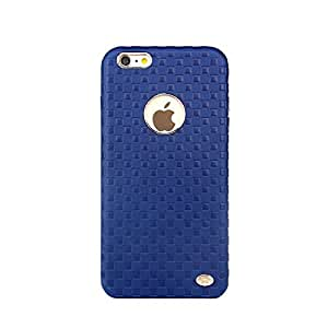 AE (TM) Vorson checkbox Series Leather Shell with Metallic Logo Display Design Case For Apple iphone 6 / 6s (4.7) BLUE