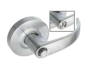 Dauntless commercial door lock privacy bathroom function satin chrome finish door hardware - Commercial bathroom door handle ...