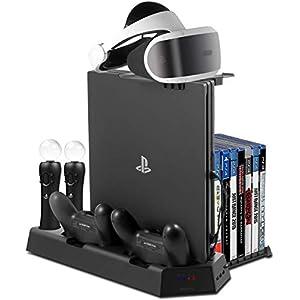Younik PS4 スタンド- VRスタンドPS4/PS4 PRO/PS4 SLIM縦置きスタンド