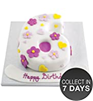 Hearts and Flowers Number Cake (Single Number)