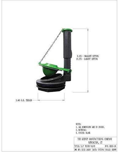 Keeney K835 10 3 Inch Toilet Flush Valve Fits American Standard Kohler Elje