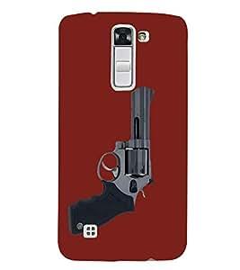 Shooting Gun Revolver 3D Hard Polycarbonate Designer Back Case Cover for LG K7 4G Dual