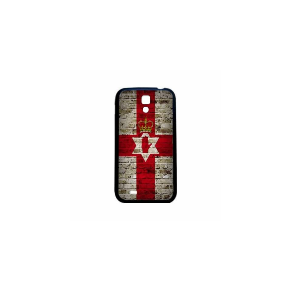 Northern Ireland Brick Wall Flag Samsung Galaxy S4 Black Silcone Case   Provides Great Protection