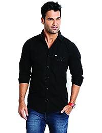 Rodid Men's Cotton Casual Shirt Black
