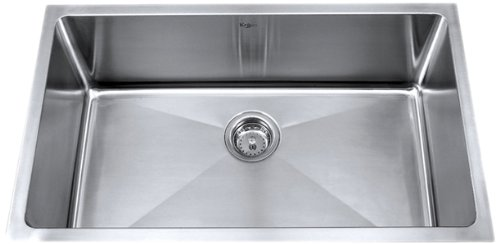 Why Choose The Kraus KHU100-30 30-Inch Undermount Single Bowl 16 gauge Kitchen Sink, Stainless Steel