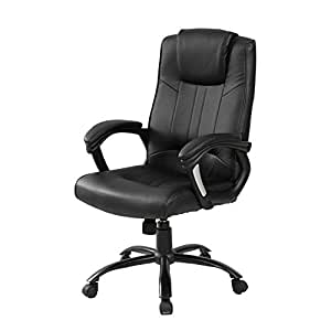 Merax High Back New Office Pu Leather Ergonomic Office Chair Comp