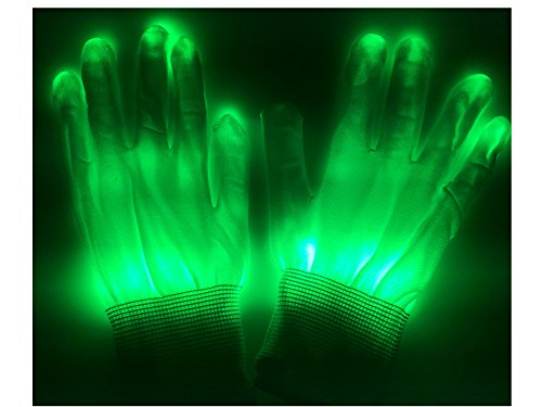 Green Stylise El wire Gloves N Light up Gloves Perfect for your Halloween Party Christmas Music Festival Rave Parties Gifts, Fashion , Limited Collection A Night Out! Slow Blinking Fast (Music Masquerade Mask)