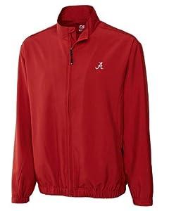 Alabama Crimson Tide Big and Tall CB Wind Tec Astute Full Zip Wind Shirt by Cutter & Buck