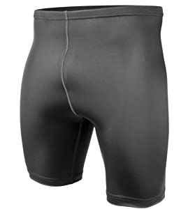 Men's Spandex Exercise Compression Workout Shorts Black X-Small