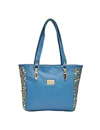 Hawai Blue Zipper Closure Shoulder Bag