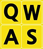 English US Large letters YELLOW keyboard stickers