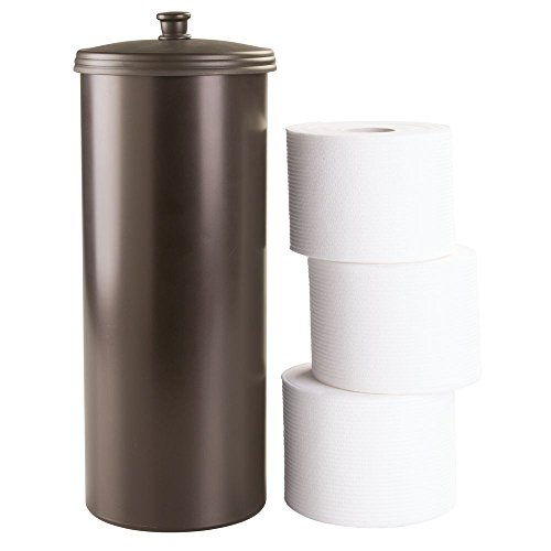 InterDesign Kent Bathware Free Standing Toilet Paper Roll Holder For Bathroo