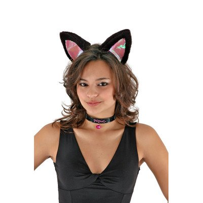 Elope Large Cat Ears Set (Black/Pink)