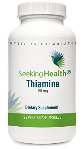 Thiamine | Provides 50 Mg Of Thiamin (As Thiamine Hydrocholoride Per Easy-To-Swallow Vegetarian Capsule | Free Of Magnesium Stearate | Non-Gmo | Physician Formulated | Seeking Health