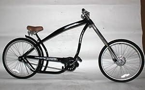chopper fahrrad beachcruiser style in schwarz. Black Bedroom Furniture Sets. Home Design Ideas