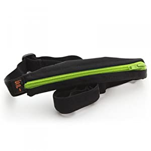SPIbelt Adult's SPIbelt, Black Fabric/Lime Green Zipper/Logo Band