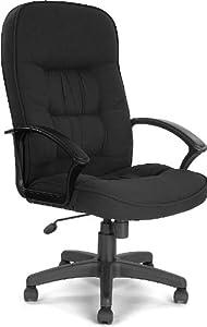 Cadiz High Back Executive Fabric Office Chair - Black