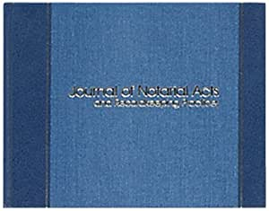 """Wilson Jones Journal of Notarial Acts Notary Book, 8-5/8"""" x 11-1/8"""", 18 Lines/Page, 90 Numbered Pages, WS495A"""