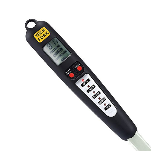 Review Barbestar Digital BBQ Grilling Meat Cooking Thermometer Fork,Stainless Steel Instant Read, 5 ...