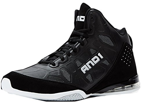AND 1 Master 3 Mid Skate Shoe, Black/White, 4.5 M US Big Kid