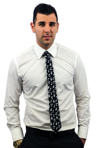 Enimay Men'S Formal Tie Novelty Music Note
