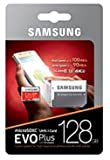 #9: 128GB EVO Samsung Plus Class 10 UHS-I microSDXC U3 with Adapter (MB-MC128GA/EU) Read:up to 100MB/s