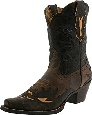 Ariat Women's Dahlia Western Fashion Boot, Silly Brown/Chocolate Floral, 5.5 M US