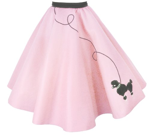 Hip Hop 50S Shop Adult Poodle Skirt (M/L, Light Pink)