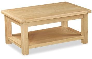 Helford-Tavolino da caffè in legno di quercia, misura grande