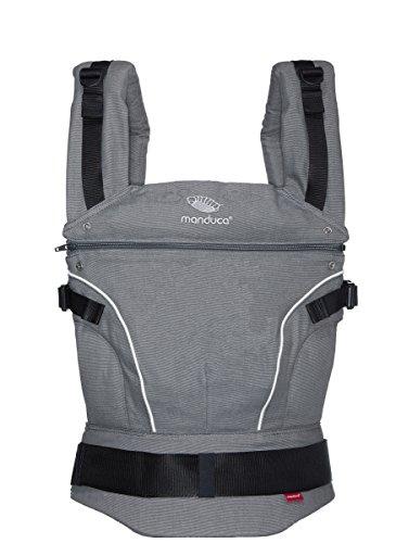 Manduca Baby-und Kindertrage Bauch-, Rücken- und Hüfttrage - 100 % Bio-Baumwolle (DARK grey)