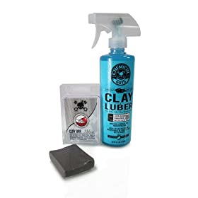 Chemical Guys CLYKIT2 Medium Duty Clay Bar and Luber Synthetic Lubricant Kit (2 Items)