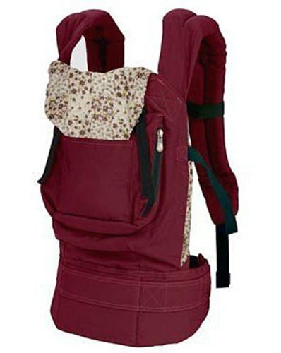 Gaorui Cotton Baby Carrier Infant Comfort Backpack Buckle Sling Wrap Fashion Full Pad Adjustable Red -S