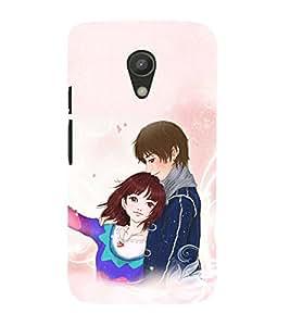 99Sublimation Hugging Couple 3D Hard Polycarbonate Back Case Cover for Motorola Moto G2 :: 2nd Gen :: G XT1068 :: G 2nd Gen :: G Dual SIM 2nd gen :: G Dual SIM 2014