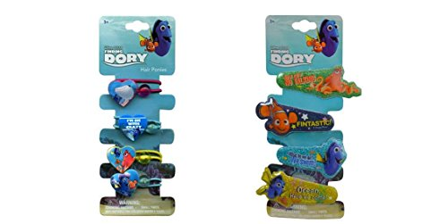 Finding Dory Hair Pony Tails and Gliter Snaps Hair Clip Bundle (1 Set)