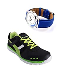 Elligator Sports Shoes With Lotto Blue Watch - B00WSAB01I