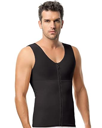 Leo Torso Toner Body Shaper for Men-Black, 4XL