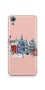 Casenation London Colour Sketch HTC 826 Matte Case