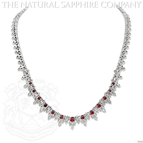 Magnificent Platinum, Ruby and Diamond Necklace