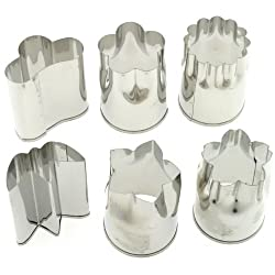 Stainless Vegetable Cutter, Large, 6 Assorted Shapes